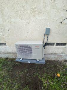 Outdoor Fujitsu unit